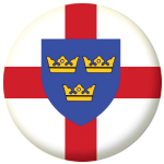 East Anglia County Flag 58mm Button Badge